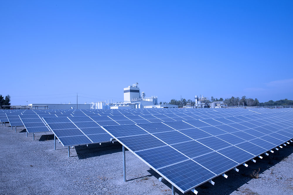 Diamond is committed to energy conservation and utilizes solar power
