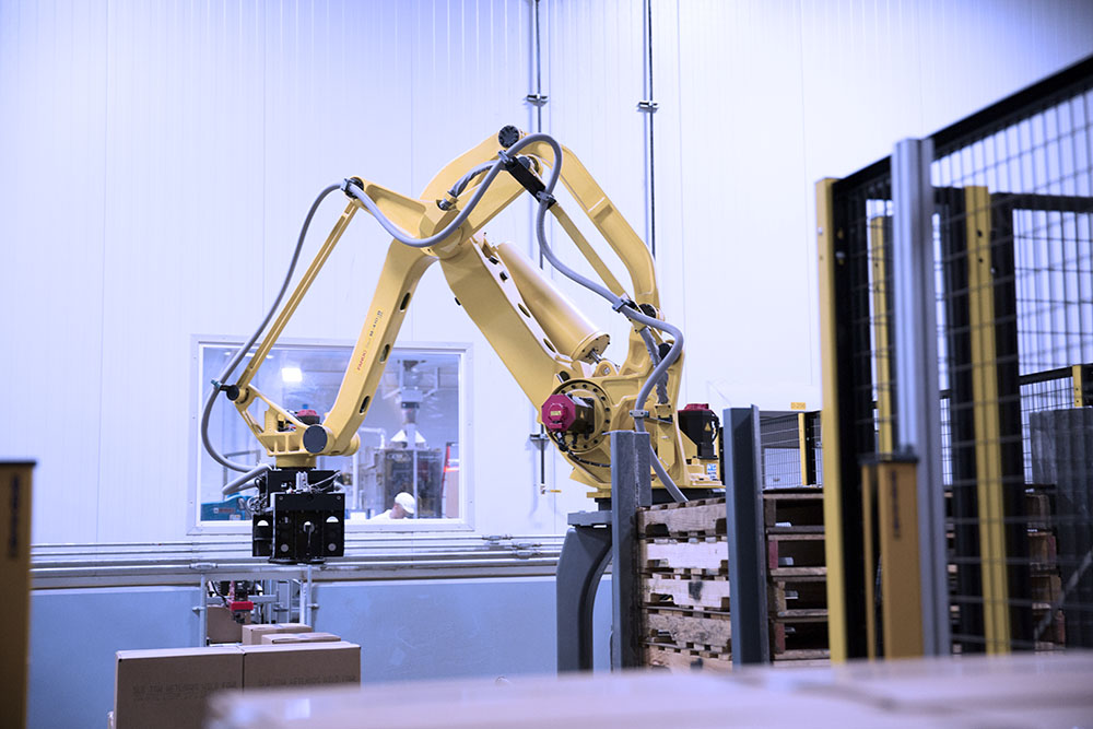 Robotics are used throughout the manufacturing process for precision accuracy
